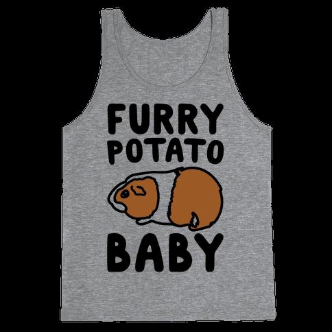Furry Potato Baby Guinea Pig Parody Tank Top