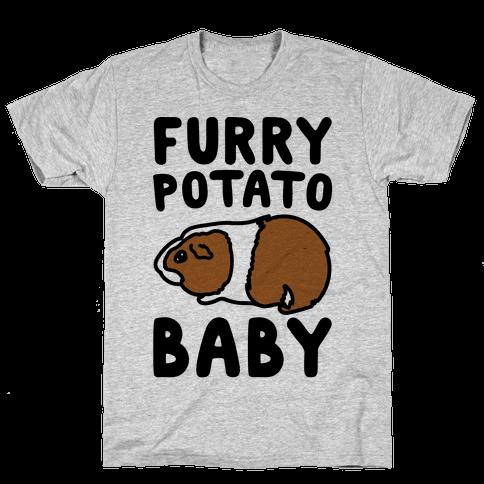 Furry Potato Baby Guinea Pig Parody Mens/Unisex T-Shirt