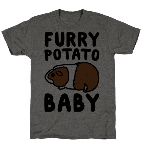 Furry Potato Baby Guinea Pig Parody Mens T-Shirt