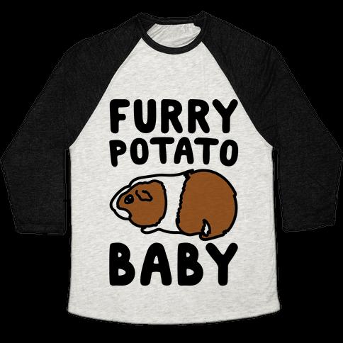 Furry Potato Baby Guinea Pig Parody Baseball Tee