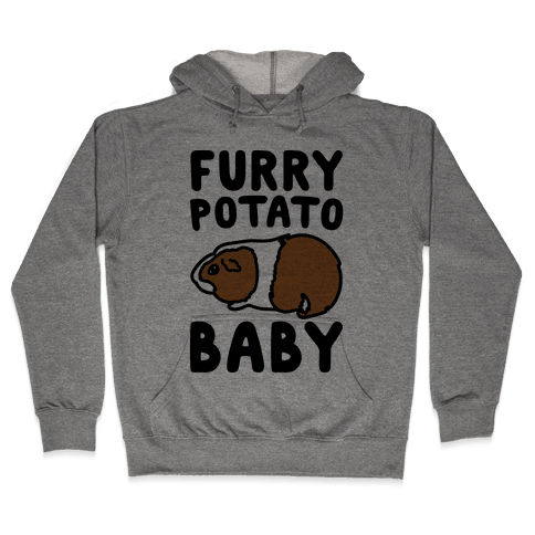 Furry Potato Baby Guinea Pig Parody Hooded Sweatshirt