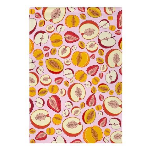 Fruity Vaginas Pattern Garden Flag