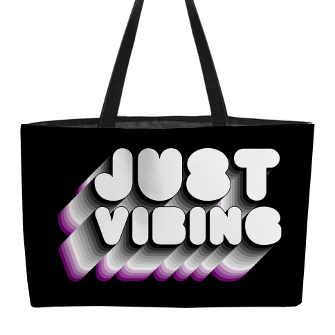 Just Vibing (Ace Pride) Weekender Tote
