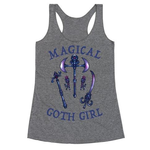 Magical Goth Girl Gray Racerback Tank Top