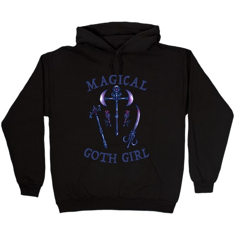 Magical Goth Girl Gray Hooded Sweatshirt