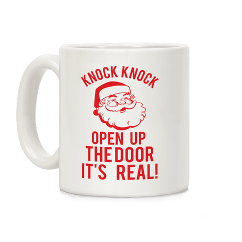 Knock Knock Santa Coffee Mug
