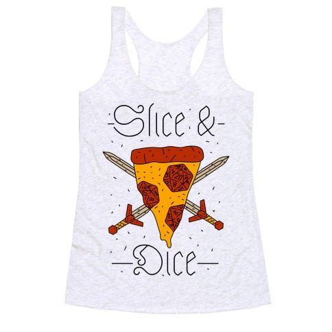 Slice & Dice  Racerback Tank Top