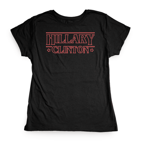Hillary Clinton Things Parody (Red) Womens T-Shirt
