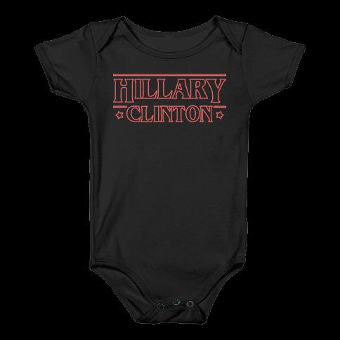 Hillary Clinton Things Parody (Red) Baby Onesy
