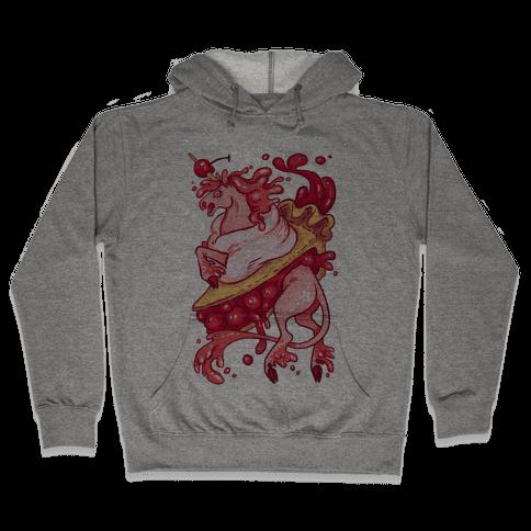 Kawaii Unicorn Pie Hooded Sweatshirt