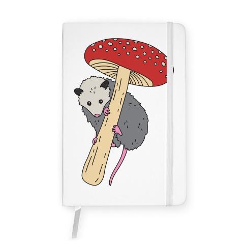 Opossum Mushroom Notebook