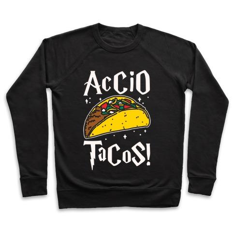 Accio Tacos Parody White Print Pullover