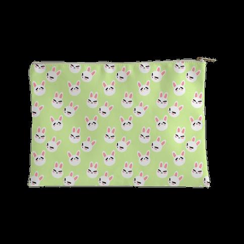 BunBun Pattern Green Accessory Bag