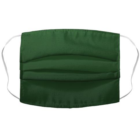 Evergreen Gradient Accordion Face Mask