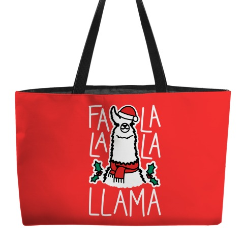 Falalala Llama Weekender Tote