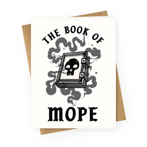 The Book Of Mope Black Magic Greeting Card