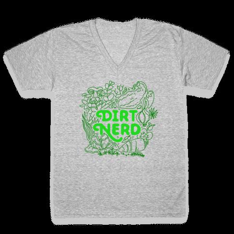Dirt Nerd V-Neck Tee Shirt