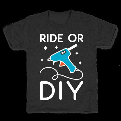 Ride Or DIY Pair 2/2 Kids T-Shirt