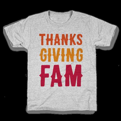 Thanksgiving Fam Kids T-Shirt