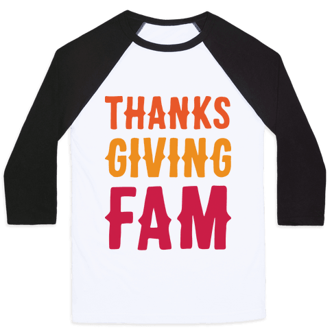 Thanksgiving Fam Baseball Tee