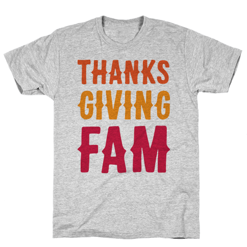 Thanksgiving Fam Mens T-Shirt