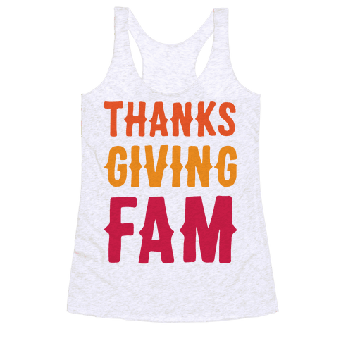 Thanksgiving Fam Racerback Tank Top