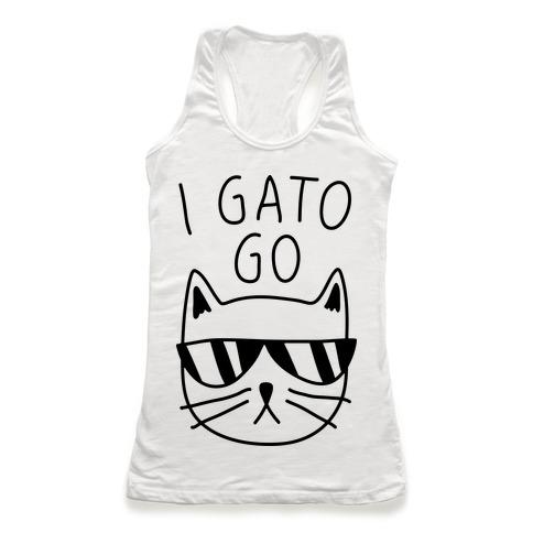 I Gato Go Racerback Tank Top