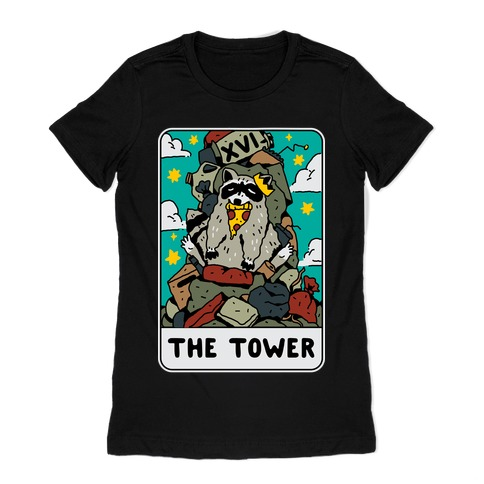 The Garbage Tower Tarot Womens T-Shirt