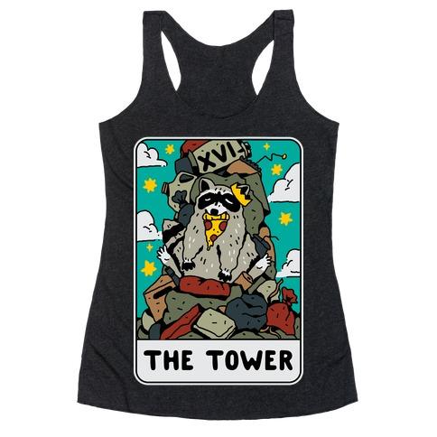 The Garbage Tower Tarot Racerback Tank Top