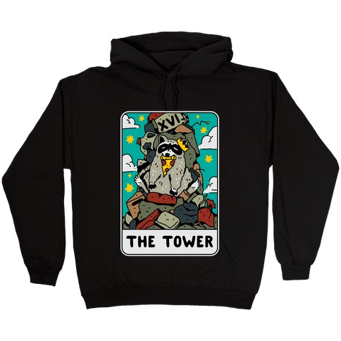 The Garbage Tower Tarot Hooded Sweatshirt