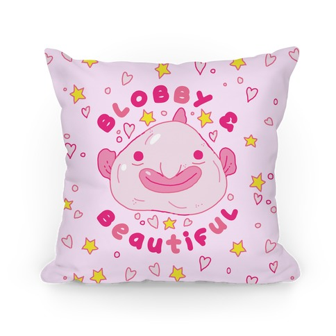 Blobby & Beautiful Pillow