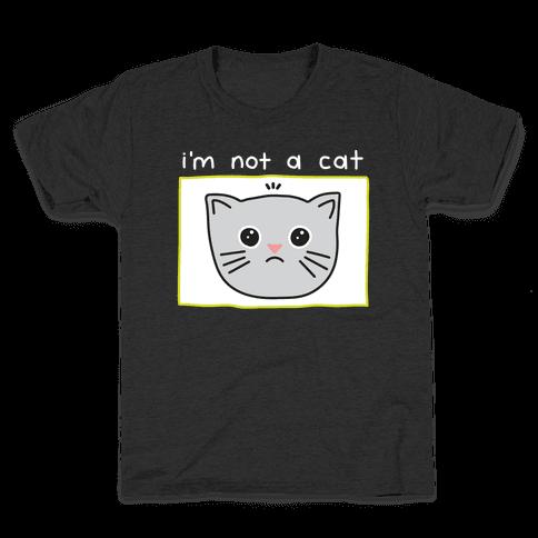 I'm Not A Cat Zoom Filter Kids T-Shirt
