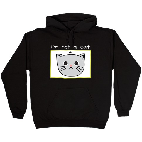 I'm Not A Cat Zoom Filter Hooded Sweatshirt