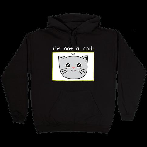 I'm Not A Cat Zoom Filter Hooded Sweatshirt