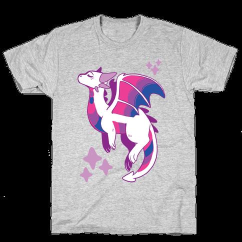 Bi Pride Dragon Mens/Unisex T-Shirt