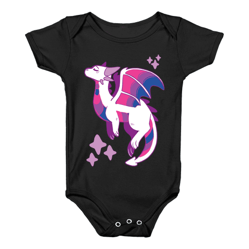 Bi Pride Dragon Baby Onesy