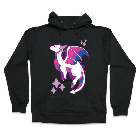 Bi Pride Dragon Hooded Sweatshirt