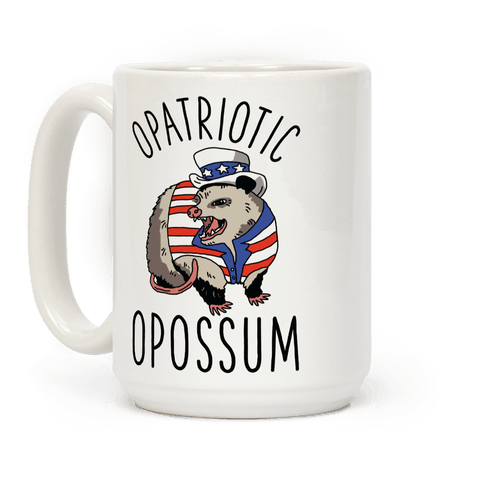 Opatriotic Opossum Coffee Mug