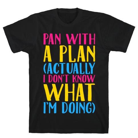 Pan With A Plan White Print T-Shirt