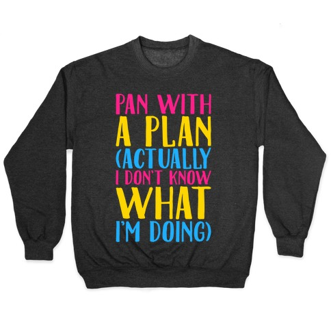 Pan With A Plan White Print Pullover