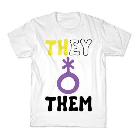 They Them Non Binary Kids T-Shirt