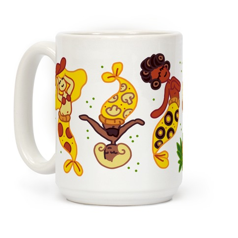 Pizza Mermaids Coffee Mug