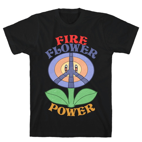 Fire Flower Power Mens/Unisex T-Shirt