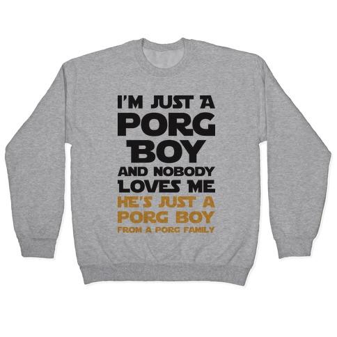 I'm Just A Porg Boy Pullover