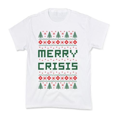 Merry Crisis Ugly Christmas Sweater Kids T-Shirt