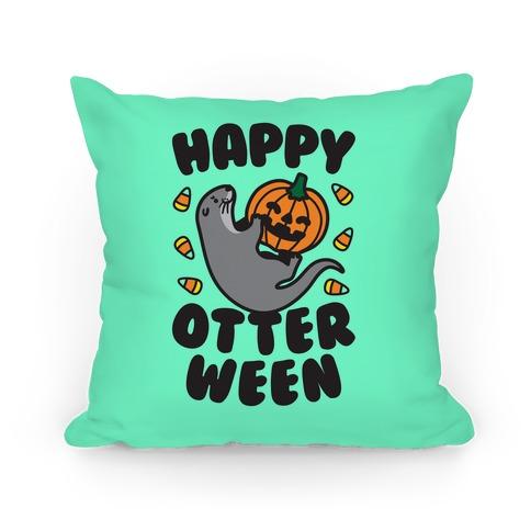 Happy Otterween Pillow