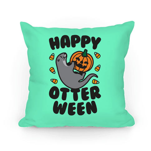 Happy Otterween Pillow