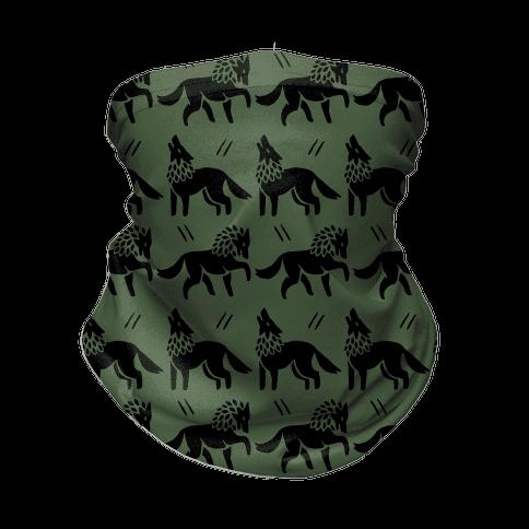 Wolf Chive Boho Pattern Neck Gaiter