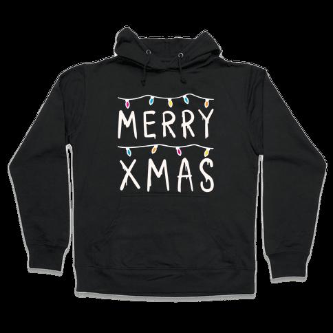 Merry Xmas Things (White) Hooded Sweatshirt