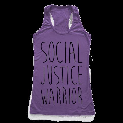 Social Justice Warrior Racerback Tank Top